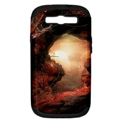3d Illustration Of A Mysterious Place Samsung Galaxy S Iii Hardshell Case (pc+silicone)