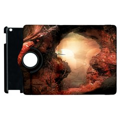 3d Illustration Of A Mysterious Place Apple Ipad 2 Flip 360 Case