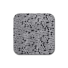 Metal Background With Round Holes Rubber Square Coaster (4 Pack)  by Nexatart