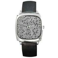 Metal Background With Round Holes Square Metal Watch by Nexatart