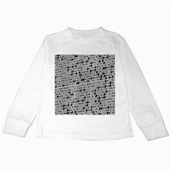 Metal Background With Round Holes Kids Long Sleeve T Shirts
