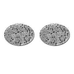 Metal Background With Round Holes Cufflinks (oval) by Nexatart