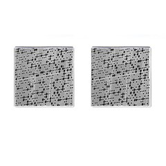 Metal Background With Round Holes Cufflinks (square) by Nexatart