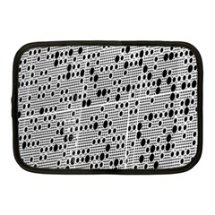 Metal Background With Round Holes Netbook Case (medium)