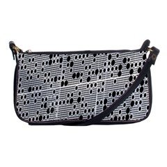 Metal Background With Round Holes Shoulder Clutch Bags by Nexatart