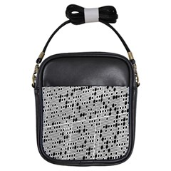 Metal Background With Round Holes Girls Sling Bags by Nexatart