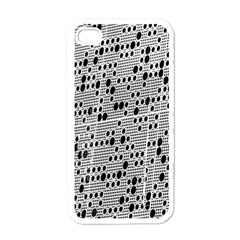 Metal Background With Round Holes Apple Iphone 4 Case (white) by Nexatart