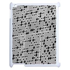 Metal Background With Round Holes Apple Ipad 2 Case (white) by Nexatart