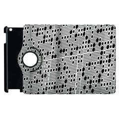 Metal Background With Round Holes Apple Ipad 2 Flip 360 Case by Nexatart