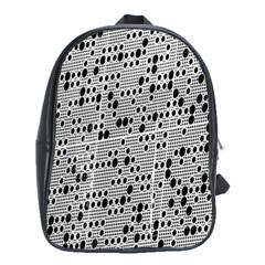 Metal Background With Round Holes School Bags (xl)