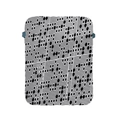 Metal Background With Round Holes Apple Ipad 2/3/4 Protective Soft Cases by Nexatart