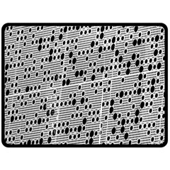Metal Background With Round Holes Double Sided Fleece Blanket (large)