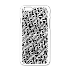 Metal Background With Round Holes Apple Iphone 6/6s White Enamel Case
