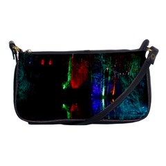 Illuminated Trees At Night Near Lake Shoulder Clutch Bags by Nexatart