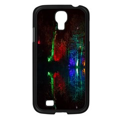Illuminated Trees At Night Near Lake Samsung Galaxy S4 I9500/ I9505 Case (black)