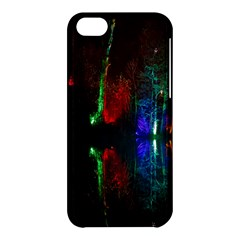 Illuminated Trees At Night Near Lake Apple Iphone 5c Hardshell Case