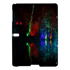 Illuminated Trees At Night Near Lake Samsung Galaxy Tab S (10 5 ) Hardshell Case  by Nexatart