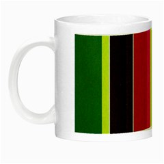 Stripe Background Night Luminous Mugs