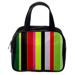 Stripe Background Classic Handbags (one Side)