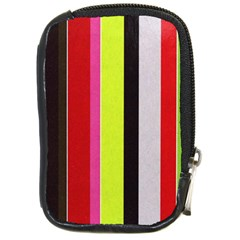 Stripe Background Compact Camera Cases