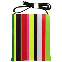Stripe Background Shoulder Sling Bags by Nexatart