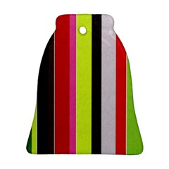 Stripe Background Ornament (bell) by Nexatart