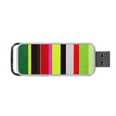 Stripe Background Portable Usb Flash (two Sides) by Nexatart