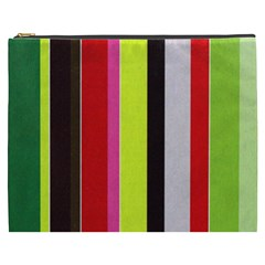Stripe Background Cosmetic Bag (xxxl)  by Nexatart