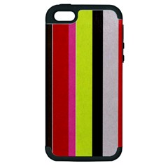Stripe Background Apple Iphone 5 Hardshell Case (pc+silicone)