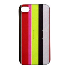 Stripe Background Apple Iphone 4/4s Hardshell Case With Stand by Nexatart