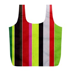 Stripe Background Full Print Recycle Bags (l)