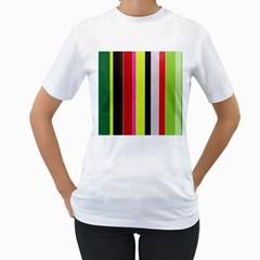 Stripe Background Women s T Shirt (white)