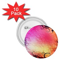 Floral Frame Surrealistic 1 75  Buttons (10 Pack)