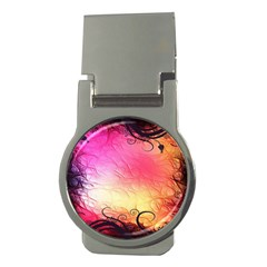 Floral Frame Surrealistic Money Clips (round)