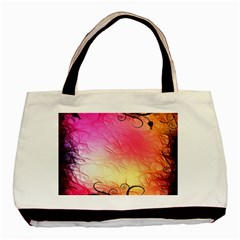 Floral Frame Surrealistic Basic Tote Bag (two Sides) by Nexatart