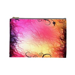 Floral Frame Surrealistic Cosmetic Bag (large)  by Nexatart