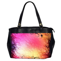 Floral Frame Surrealistic Office Handbags (2 Sides)