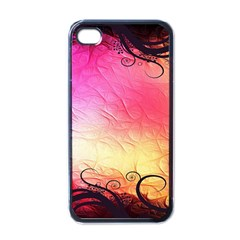 Floral Frame Surrealistic Apple Iphone 4 Case (black)