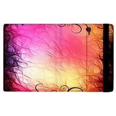 Floral Frame Surrealistic Apple Ipad 3/4 Flip Case by Nexatart