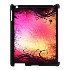 Floral Frame Surrealistic Apple Ipad 3/4 Case (black) by Nexatart