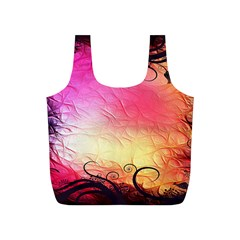 Floral Frame Surrealistic Full Print Recycle Bags (s)  by Nexatart