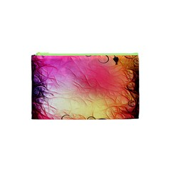Floral Frame Surrealistic Cosmetic Bag (xs)