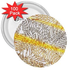Abstract Composition Digital Processing 3  Buttons (100 Pack)