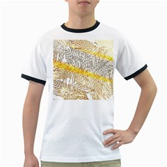 Abstract Composition Digital Processing Ringer T-Shirts