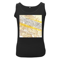 Abstract Composition Digital Processing Women s Black Tank Top