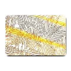 Abstract Composition Digital Processing Small Doormat  by Nexatart