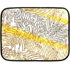 Abstract Composition Digital Processing Fleece Blanket (mini)