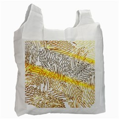 Abstract Composition Digital Processing Recycle Bag (one Side) by Nexatart