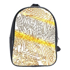 Abstract Composition Digital Processing School Bags(large)  by Nexatart