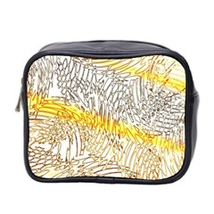 Abstract Composition Digital Processing Mini Toiletries Bag 2 Side by Nexatart